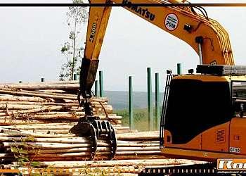 Garra florestal para pá carregadeira